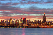 Landscapes Art - Manhattan Dawn Skyline I by Clarence Holmes