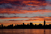 Silhouette - Manhattan Dawn Skyline II by Clarence Holmes