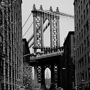 Manhattan Bridge Prints - Manhattan Empire Print by Andrew Fare