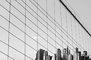 Black Top Acrylic Prints - Manhattan from Brooklyn Bridge Acrylic Print by Ilker Goksen