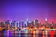 Midtown Prints - Manhattan Lights Print by Matthias Haker Photography