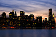 City Streets Photo Originals - Manhattan Lights by Svetlana Sewell