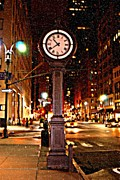 Nyc Photos - Manhattan Midtown Clock by Randy Aveille