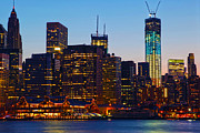 Lower Manhattan Photos - Manhattan by Mitch Cat