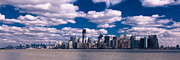 New York City Skyline Photo Framed Prints - Manhattan Morning Framed Print by David Hahn
