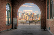 Terminal Photos - Manhattan Skyline from CRRNJ Terminal I by Clarence Holmes