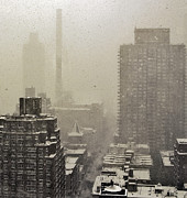 Snow Manhattan Prints - Manhattan Snow Storm Print by Madeline Ellis