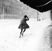 Mini-skirt Framed Prints - Manhattan Snowstorm, 1969 Framed Print by Science Source