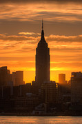 Silhouette - Manhattan Sunrise II by Clarence Holmes