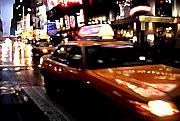 Fast Paintings - Manhattan Taxis by Jose Roldan Rendon