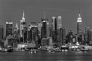 Black And White Photos - Manhattan Twilight IV by Clarence Holmes