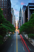 Road Travel Photo Prints - Manhattanhenge From 42nd Street, New York City Print by Andrew C Mace