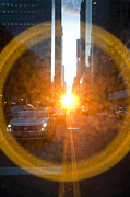 Olia Saunders Metal Prints - Manhattanhenge New York Metal Print by Design Remix