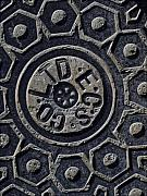 Iron City Posters - Manhole Cover NYC Poster by Robert Ullmann