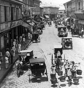 Carriages Posters - Manilla - Philippine Islands - Escolta Street Scene - c 1901 Poster by International  Images