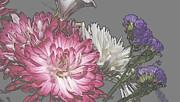 Computer Generated Flower Prints - Manipulated Beauties Print by Kim Galluzzo-Wozniak