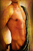 Artistic Nude  Posters - Manipulation In Yellow Poster by Mark Ashkenazi