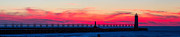 Michigan Art - Manistee Lighthouse at Sunset by Twenty Two North Photography