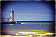 Timothy J Berndt Art - Manistee Lighthouse by Timothy J Berndt