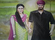 Indian Guru Paintings - Mannata by Sandeep Kumar Sahota