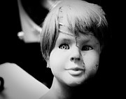 Black And White Photography Digital Art - Mannequin Boy by Sonja Quintero