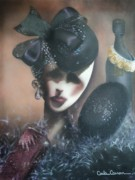 Sequins Mixed Media Prints - Mannequin Glitz N Glamour Print by Carla Carson