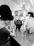 Peggy Sues Diner Photos - Mannequins at Peggy Sues 50s Diner by Julie Niemela