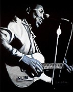 Blues Music Prints - Mannish Boy Print by Al  Molina
