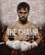 Black Digital Art Acrylic Prints - Manny Pacquiao-The Champ Acrylic Print by Ted Castor