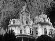 Black White And Sepia Art - Manor House by Devalyn Marshall