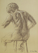 Decorating Drawings - Mans Back by Sarah Parks