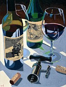 Wine Bottle Paintings - Mans Best Friend by Christopher Mize