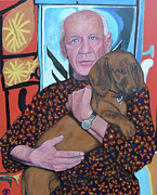 Tom Roderick Painting Originals - Mans Best Friend by Tom Roderick