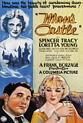 1933 Movies Framed Prints - Mans Castle, Spencer Tracy, Loretta Framed Print by Everett