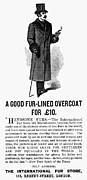 Overcoat Framed Prints - Mans Overcoat, 1888 Framed Print by Granger