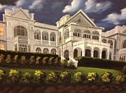 Verandah Paintings - Mansion Fiji President by Biren