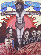 Artgrinder Prints - Manson Christ Print by Sam Hane