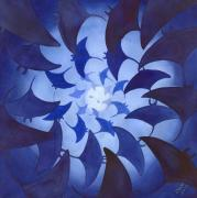 Vortex Paintings - Mantas by Catherine G McElroy