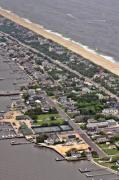 Aerials Framed Prints - Mantoloking Barnegat Atlantic Framed Print by Duncan Pearson