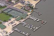 Aerial Photography - Mantoloking Yacht Club Mantoloking New Jersey II by Duncan Pearson