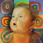 Baby Paintings - Manuels Portrait by Karina Llergo Salto