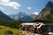 Many Glacier Photos - Many Glacier Hotel by Bruce Gourley