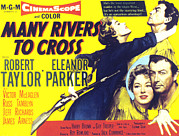 1955 Movies Photo Framed Prints - Many Rivers To Cross, Eleanor Parker Framed Print by Everett