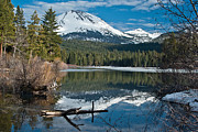 Reflecting Water Posters - Manzanita Lake Reflects on Mount Lassen Poster by Greg Nyquist