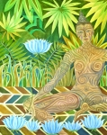 Buddhist Painting Prints - Maori Tara  Print by Jennifer Baird