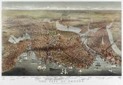 Charles River Photo Prints - MAP: BOSTON, c1873 Print by Granger