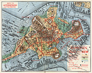 Typeface Prints - MAP: BOSTON, c1880 Print by Granger