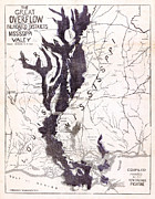 Mississippi Map Prints - Map: Mississippi River, 1874 Print by Granger