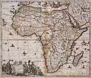 Map Of Africa Posters - Map Of Africa, 1688 Poster by Photo Researchers