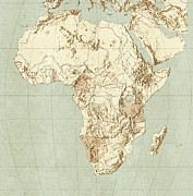 Cartography Photos - Map Of Africa by Mikkel Juul Jensen